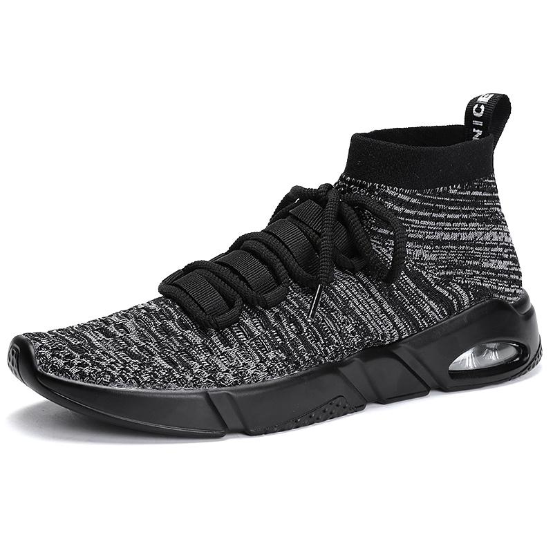 2018 New design classic casual shoes men knit shoes